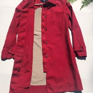 ☀️Gap Red Trench Coat